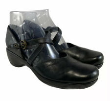 ecco  Double strap Mary Jane wedge heels Black Leather Women's Sz Eu 42 Us 11.5