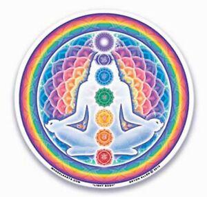 Mandala Art Light Body window Sticker 2 sided indoor outdoor chakra meditaion