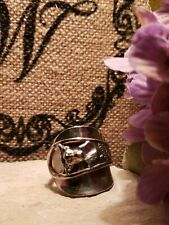 Vintage sterling Silver plated Spoon Ring handmade 10