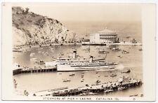 RPPC Steamers, Piers, Casino, Sail Boats in Catalina Island, California~106946