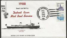 1988 Detroit Riverboat Mail Service, Seasons Last Mail