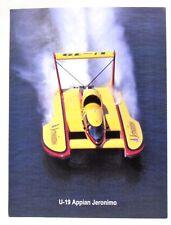 1996 U-19 APPIAN JERONIMO card promo print hydroplane boat racing c3