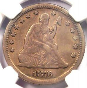 1876-CC Seated Liberty Quarter 25C - NGC XF Details - Rare Carson City Date!