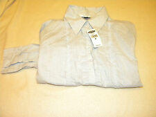 NWT Womens Old Navy long sleeve button up shirt Size M Retail $29.50