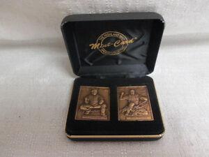 1996 Roy Campanella Mike Piazza Highland Mint Bronze Mini Mint Card Set