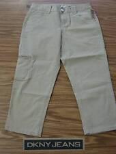 DKNY Jeans Ladies' CARGO Cropped Pants-KHAKI 287-Size 10-NWT