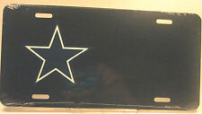 Novelty Custom NFL Dallas Cowboy star license plate black new aluminum auto tag