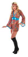 60s 70s Go-Go Swirl Fancy Dress Costume Size 8-10/12-14