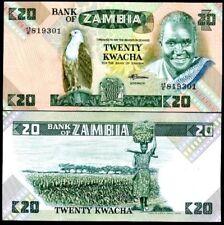 ZAMBIA 20 KWACHA ND 1986 P 27 UNC