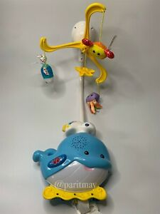VTech Baby Soothing Ocean Slumbers Mobile Blue Whale Sounds Light Music Working!