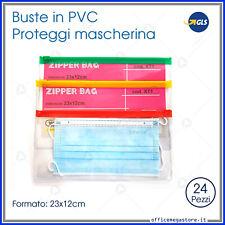 buste di plastica zip trasparenti bustine richiudibili resistenti per mascherine