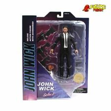 "John Wick Select Black Suit John Wick Movie 7"" Action Figure (with dog!)"