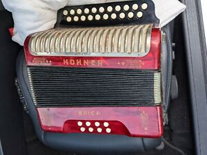 Hohner Erica pearl red Accordion in working order