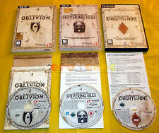 OBLIVION + KNIGHTS OF NINE + SHIVERING ISLES Pc Vers Italiane ○ USATI - BY