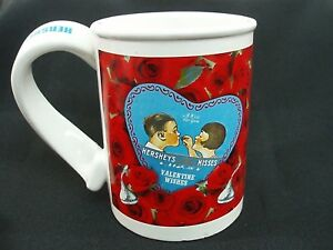 Hersey's Kisses Valentine's Wishes Coffee Mug Nostalgic Design Hot Cocoa Cup