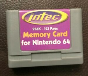 Intec memory Card for Nintendo 64 256k-123 page. A6