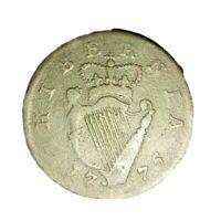 1775🔹️Ireland Hibernia Halfpenny Token Coin 🔹️ KING GEORGE III 3rd