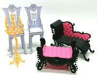 Monster High Doll Accessories Furniture Lot Mattel Chairs Candle Couch