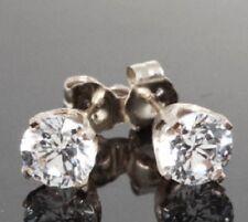 2ct VS Genuine Moissanite 14K White Gold Earrings Studs SPARKLY Free Shipping