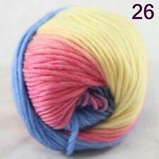 SALE NEW Chunky Colorful Hand Knitting Scores Wool Yarn Light Blue Yellow Pink