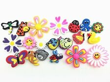 20 Butterfly Dragonfly Ladybug Flying Animals BIG Flowers Shoe Charms jibbitz