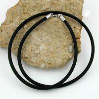 Kautschukband 4 Meter schwarz 2 mm Ø  Kettenfertigung