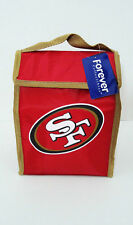 "San Francisco 49ers Lunch Bag Cooler Tote New NFL SF 8"" x 11"" x 4"" Red Solid"