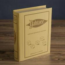 YAHTZEE Vintage Bookshelf Edition Deluxe Collectible Linen Book Board Game New