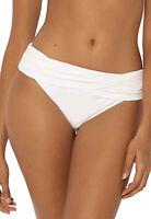 NWT Bleu Rod Beattie Kore White Sarong Hipster Bikini Bottoms Women's Size 8