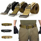 Men's Trendy Adjustable Military Canvas Rescue Rigger Belt Casual Waistband