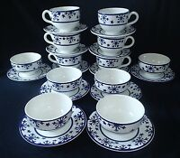 San Marciano Ceramica Snowflake 24 pc Dishes Italy Bowls Plates Mugs Christmas
