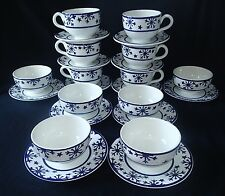 San Marcos Snowflake Ceramiche Plates Soup Bowls Cups Saucers Italy Set of 6