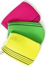 Bastex Exfoliating Bath Washcloth. Genuine Korean Towel Cloth. 3 Pieces - Yellow