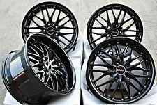 """18"""" CRUIZE 190 GLOSS BLACK ALLOY WHEELS COMMERCIALLY WEIGHT RATED 18 INCH ALLOYS"""