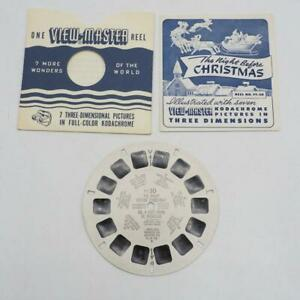 Vintage View-Master Sawyer Reel Pack Twas The Night Before Christmas #FT30