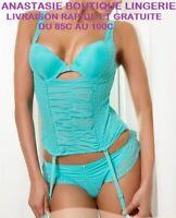 lingeriesousvêtementfemme90Censembleguêpière/bustier+porte-jarretellesstringsexy