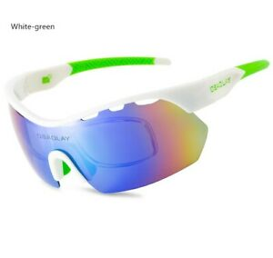 White-green Polarized Outdoor Sunglasses Cycling Windproof Glasses