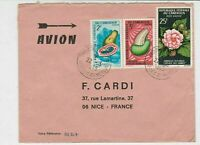 Rep Du Cameroun 1969 Airmail Yaounde Cancels Fruits+Flower Stamps Cover Rf 30738
