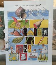 SIMON DREW GREETING ART CARD: SPOT THE FOOTBALL CLUB - NEW IN CELLO - POST DAILY