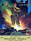 """1942 Corps of Military Police US Army Vintage Print/ Poster  8.5"""" x 11"""" Repro"""