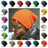Beanie Hat Knitted Cuffless Skater Ski Woolly Winter Warm Mens Womens Ladies