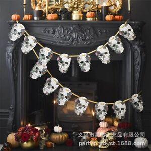 Halloween Decoration: Baroque Skull Garland