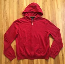 WILLI SMITH Zip up Hood Sweater / Red XL / Cotton Angora Rabbit Hair