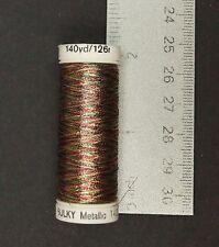 Sulky Original Metallic Thread - Cranberry/Gold/Pine Green Fly Tying