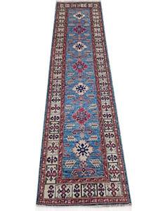 3 x 11 Blue Super Kazak carpet runners near me 333 x 84 cm Hard-wearing Rug