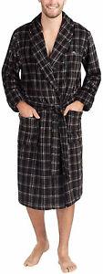 Men's TOMMY BAHAMA Robe,Black Plaid,Sailfish,Warm,Cozy Plush Lounge,Bathrobe,S/M