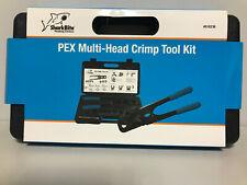 SharkBite Pex Multi Head Crimp Tool Kit Plumbing #818236 NEW 3/8-1/2-3/4 & 1