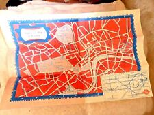 VINTAGE MAP MAPS CARTOON OF LONDON WITH UNDERGROUND SUBWAY LOVELY 1950'S