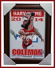 Lance Buddy Franklin 2014 Coleman Medallist Limited Edition Print Brown Frame