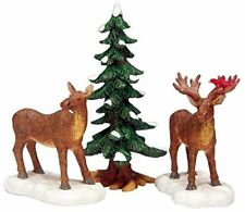 New Lemax Figurines Mr And Mrs Moose Set of 3 # 32725  Polyresin 2017